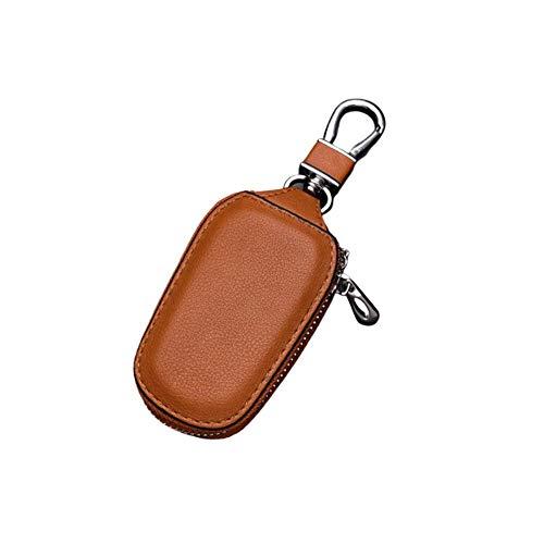 BeneU Autoschlüssel Tasche (RFID-Signal Nicht BLOCKIERBAR), Multifunktions Leder Autoschlüssel Tasche PU Leder Ring Halter Abdeckung, Für Autoschlüssel Keyless Schlüssel Tasche