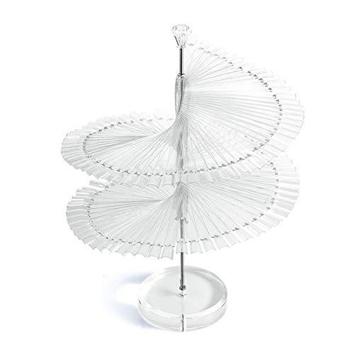 Rokoo 120pcs couleur en spirale en forme de ventilateur de cosmétiques rotatifs et présentoir de bijoux
