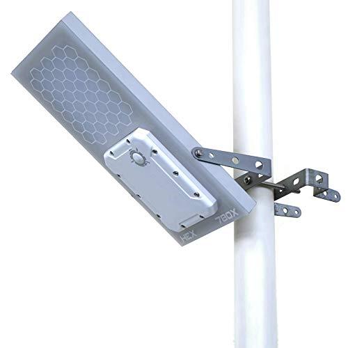 Farola LED solar con sensor de luz para poste HEX 780X Solar Light Mart