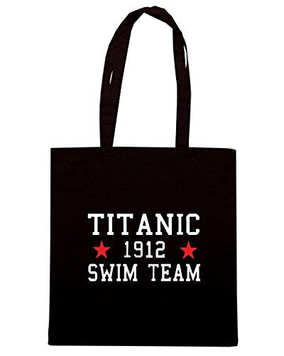 T-Shirtshock - Borsa Shopping TR0138 Titanic Swim Team T-Shirt, Taglia Capacita 10 litri