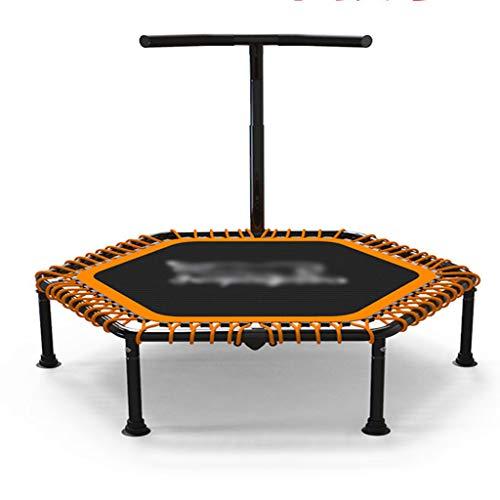 Fitness-Trampolin, Indoor/Outdoor, leise Elastisches Seil, Höhenverstellbarer Haltegriff, Trampolin für Jumping Fitness