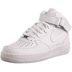 Nike Air Force - Zapatillas de gimnasia para hombre, color blanco, talla 38.5
