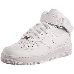 Nike Air Force 1 Mid '07 Zapatillas de baloncesto, Hombre, Blanco, 47 1/2