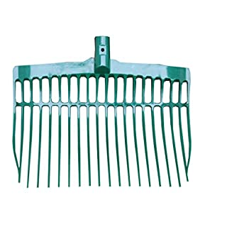 Amesbichler Shavings Fork Extra Light Almost Unbreakable, Flexible, Robust Top Product, Muck Fork, Dung Fork, Horse Manure Fork, Green