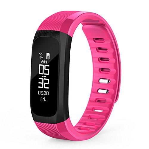 Bluelover Up9 Real-Time Herzfrequenz-Aktivitäts Monitor Ip67 Wasserdichtes Smart Armband - Rose