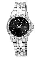 Seiko Reloj Analogico para Mujer de Cuarzo con Correa en Acero Inoxidable SUR733P1 de Seiko