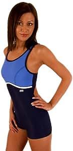 GWinner Damen Badeanzug Maria, dunkelblau/blau, 36, 112101030400-36