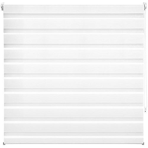 TecTake® Estor enrollable translúcido - blanco - 140 x 175 cm