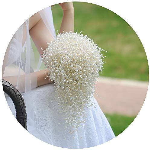 Ulapan bouquet matrimoniali con perle per sposa, perle da sposa bouquet da sposa corpetti, avorio perle bouquet matrimoniali, f24, bridal bouquet, taglia unica