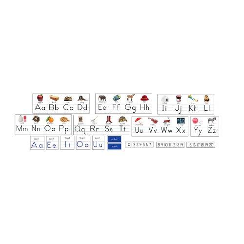 Eureka Manuscript Alphabet with Photos Alphabet Set