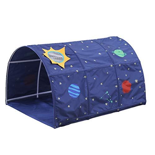 Dreamworldeu Kinder Tunnel für Hochbett Halbhochbett Etagenbetten Blau -