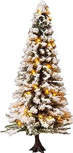 NOCH 22130 - Árbol de Navidad Iluminado (30 ledes, 12 cm de Alto), diseño de Nieve, Color Blanco