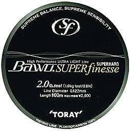 Toray. Bawo Super Hard Super Finesse, Natural. 6lb 100m Fluorocarbon by TORAY