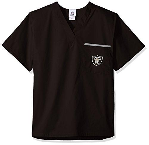 Scrub Dudz NFL Solid Scrub Top, Damen, schwarz, Small Nfl-scrubs