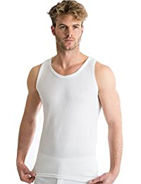 OCTAVE® Mens Thermal Underwear Sleeveless Vest (British Made Viscose Extra Warm)