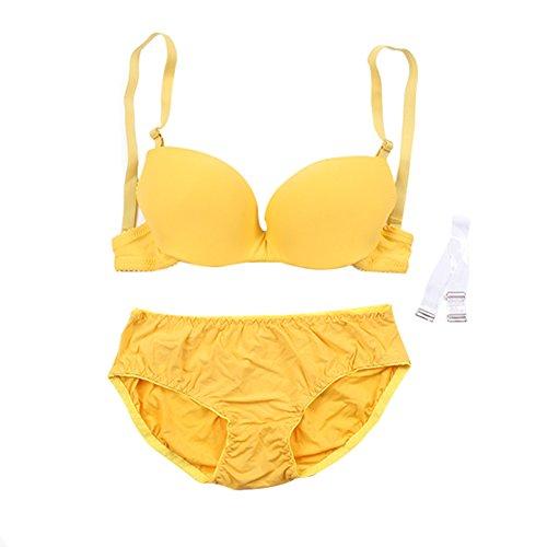 Yalatan Women Underwire Push Up Bra Seamless Gather Undewear Outfits Bra Set (34b 36b 40b Bhs)