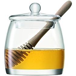 LSA International 12,5 cm y cuenco para servir tarro para miel and Oak pinturas, transparente