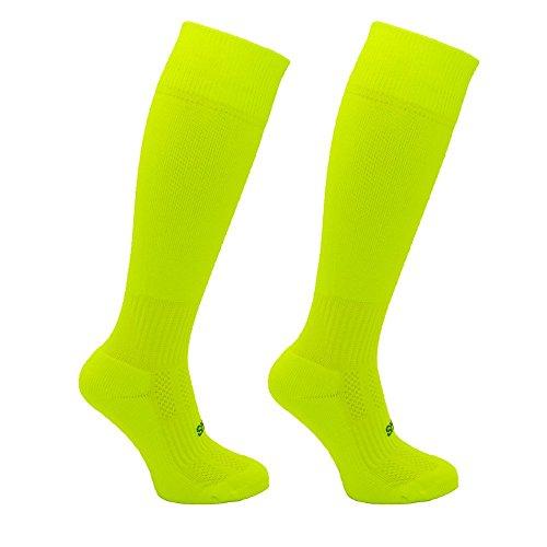 Little Grippers Leuchtstoffkalk Kinder Unisex Sport Socken mit Stay On Technology (Small 7-10 Jahre/ Schuhgröße 31-34 ) (Gripper Socken)