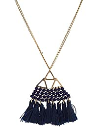 cf3d5b52074c Tata Gisèle - Collar de fantasía con Cadena de Metal Dorado – Colgante  pirámide de Metal