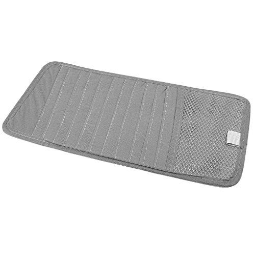 Sharplace Auto Sonnenblende CD/DVD Wallet DVD-Tasche CD-Aufbewahrung Tasche - Grau