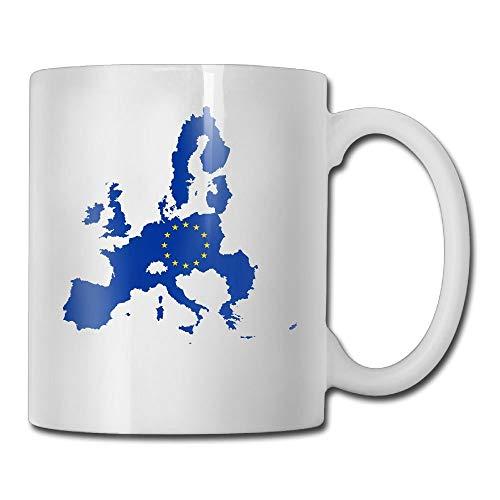 VVIANS Flag Map of European Union Summer Printed Coffee Tea Mug Cup for Men Women Office Work Adult3.14W x 3.74H(8x9.5cm) Classic Union Suit