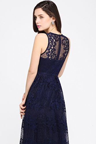 Damen Elegant A-Linie Chiffon Abendkleid Brautjungfernkleid Ballkleid lang 32-46 MisShow Mint Grün