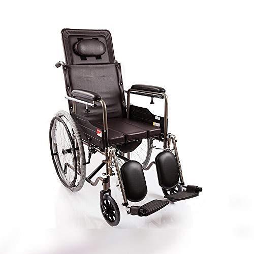 Rollstuhl-zusammenklappbarer halb liegender Typ tragbarer Rollstuhl/ergonomischer Stuhl und Rückseite das größte Lager 100kg Größe: 122 * 64 * 119cm -