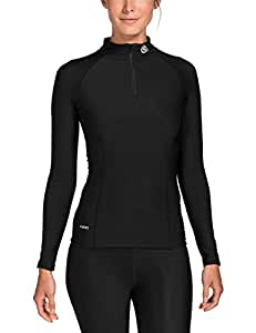 Skins Damen A200 Thermal Womens Long Sleeve Mck Neck W Zip, Black, XS, B61033025FXS