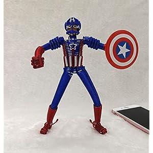 BC Worldwide Ltd handgemachte Aluminium Draht Handwerk Modell Captain America Superheld Cartoon Comic…