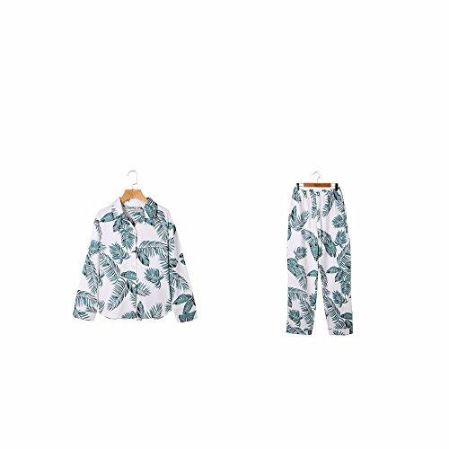 in primavera e in autunno la stagione delle donne di puro cotone a maniche lunghe maniche lunghe quanto riguarda l'abbigliamento da notte a casa vestito d'inverno il paragrafo cardigan