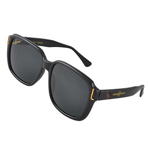 DealMux Damen Herren aus schwarzem Kunststoff Full Frame Farbige Rechteck Objektiv Außen Sun Glasses
