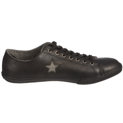 Converse Os Low Profile Ox, Baskets mode mixte adulte Noir/argent