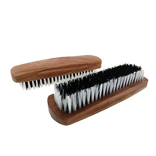 Preisvergleich Produktbild Hrph Professionelle Holzgriff Schuhe Glanz Pinsel Polnisch Borste + Plastic Buffing Pinsel
