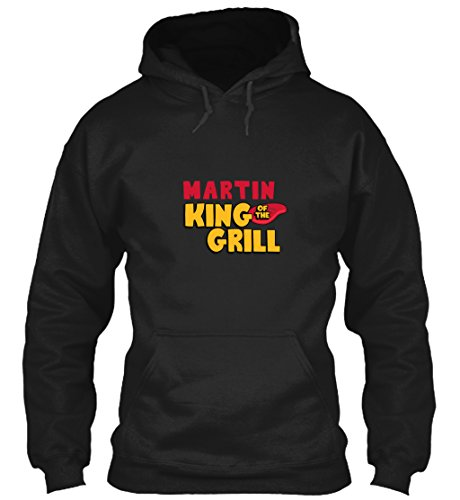teespring Men's Novelty Slogan Hoodie - Martin King of The Grill