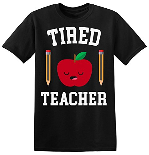 Tired Teacher Sleepy Apple With Pencils Men's T-shirt