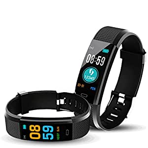bingo F0 Plus Smart Band/Fitness with Color Display - Bands for Men and Women All Activity Tracker & Heart Rate(Black)