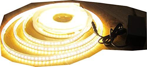 SET 5100 Lumen 10m Led Streifen 600 LED warmweiß wasserfest IP65 inkl. Netzteil 24V Pro-Serie TÜV/GS geprüft von AS-S -
