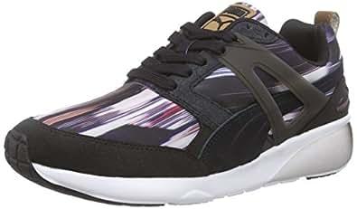Puma  Aril Fast Graphic Wn's, Sneakers basses femmes - Noir - Schwarz (black-steel gray 01), 36 EU