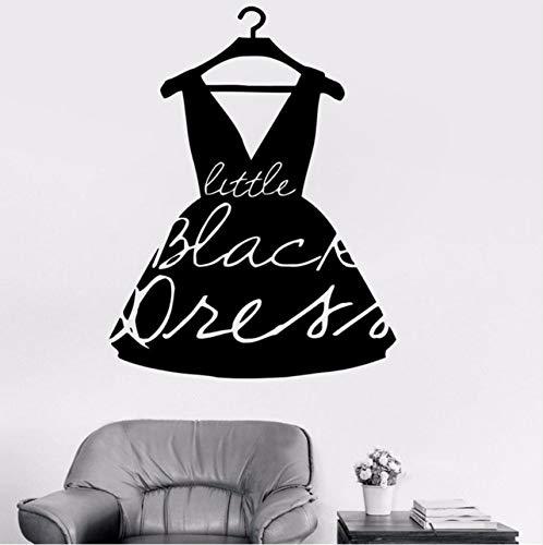(Lvabc Mode Little Black Dress Style Vinyl Aufkleber Mädchen Wandtattoo Für Kleidung Boutique Fenster Shop Wohnzimmer Wasserdicht 57X74 Cm)