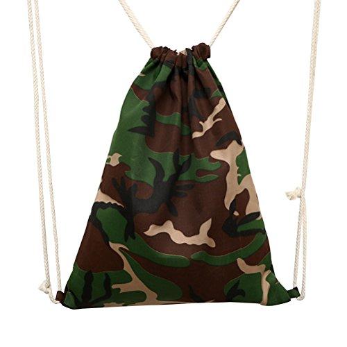 dschungel gym WINOMO der Reisetasche mit Kordelzug Taschen Säcke Taschen Schultertasche für Camping Outdoor Picknick