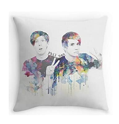 "Decorative Cushion Case Phil Lester and Dan Howell Pillowcases Custom 18""x18"""