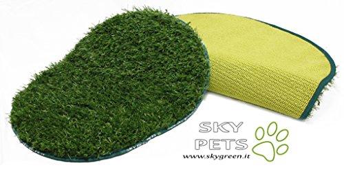 Sky Pets : Tappetino in erba sintetica Skypets. Ideale per cani di grossa taglia e gatti. Colore: Green
