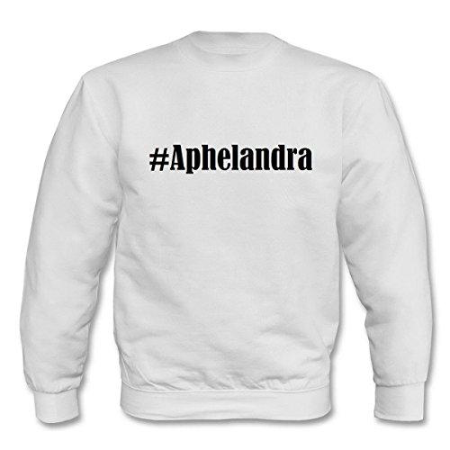 Reifen-Markt Sweatshirt I Love Aphelandra Größe 2XL Farbe Weiss Druck Schwarz