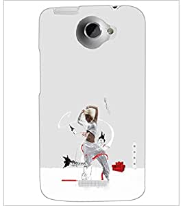 HTC ONE X DANCING GIRL Designer Back Cover Case By PRINTSWAG