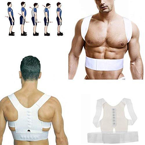 Senyun Stützkorrektur für magnetische Schulterstützen für Männer und Frauen Stabilisator für den Rücken des Haltungsgeräts Schulterstütz