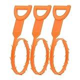 Drain Evier Outil de Nettoyage de Serpent Cheveux Nettoyer Bouche de Canalisation Cuisine Toilettes Evacuation Baignoire Nettoyer Les Outils 3 Pcs, Orange Plastique