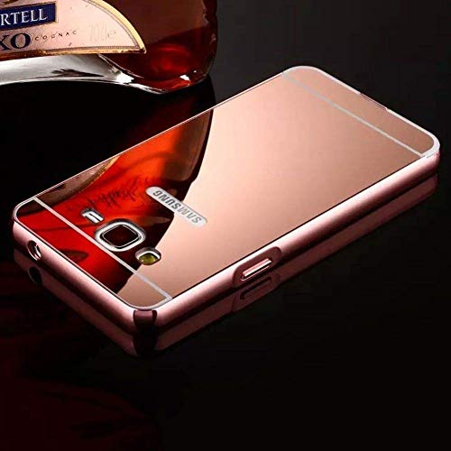 Prego Metal Bumper Acrylic Mirror Back Cover Case for Samsung Galaxy Core Prime G360 - Rose Gold