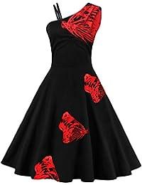 Dissa M1525 Damen Rockabilly 50er Vintage Retro Kleid Partykleider Cocktailkleider
