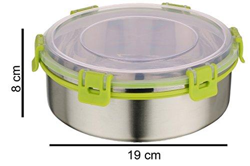 Rema - Nexa Set Of 2 Steel Lock Storage Container Green - 1000ml Each