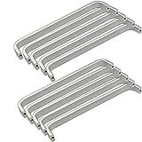 10x Mini Maniglie per ante di mobili in Alluminio, viti incluse (Lunghezza:192MM, Larghezza: 11mm)